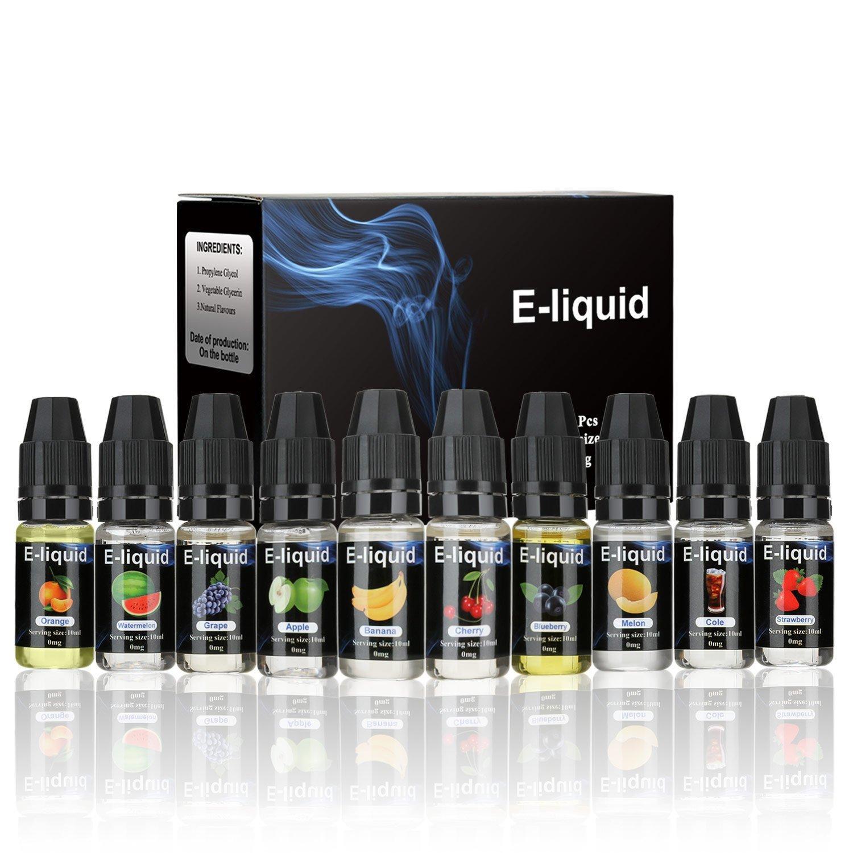 Wotek 10 x 10 ml E-líquido para Cigarrillo Electrónico, Líquidos para Vape Cigarros