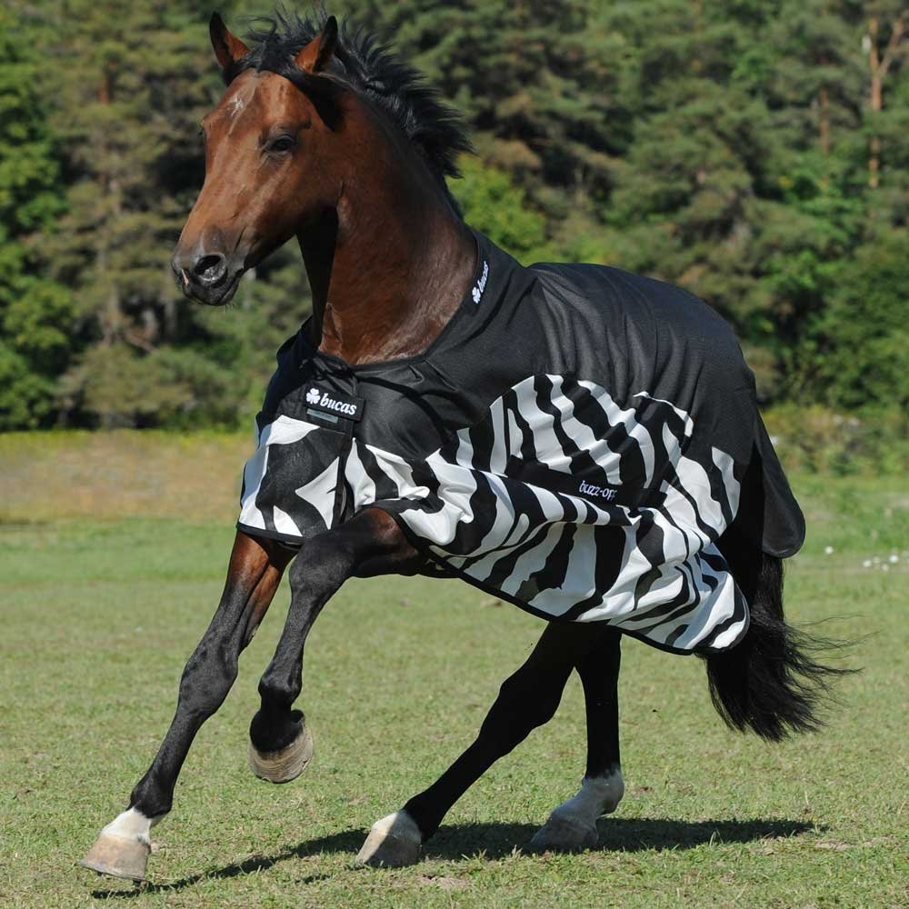Bucas Buzz-Off Rain Classic - zebra