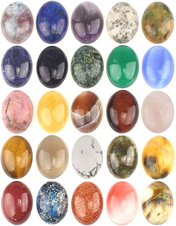 D154 413 Carats Natural Polka Dot Jasper Gemstone Jasper Cabochon 13 Pieces Jewelry Making Oval Shape Wholesale Supplier