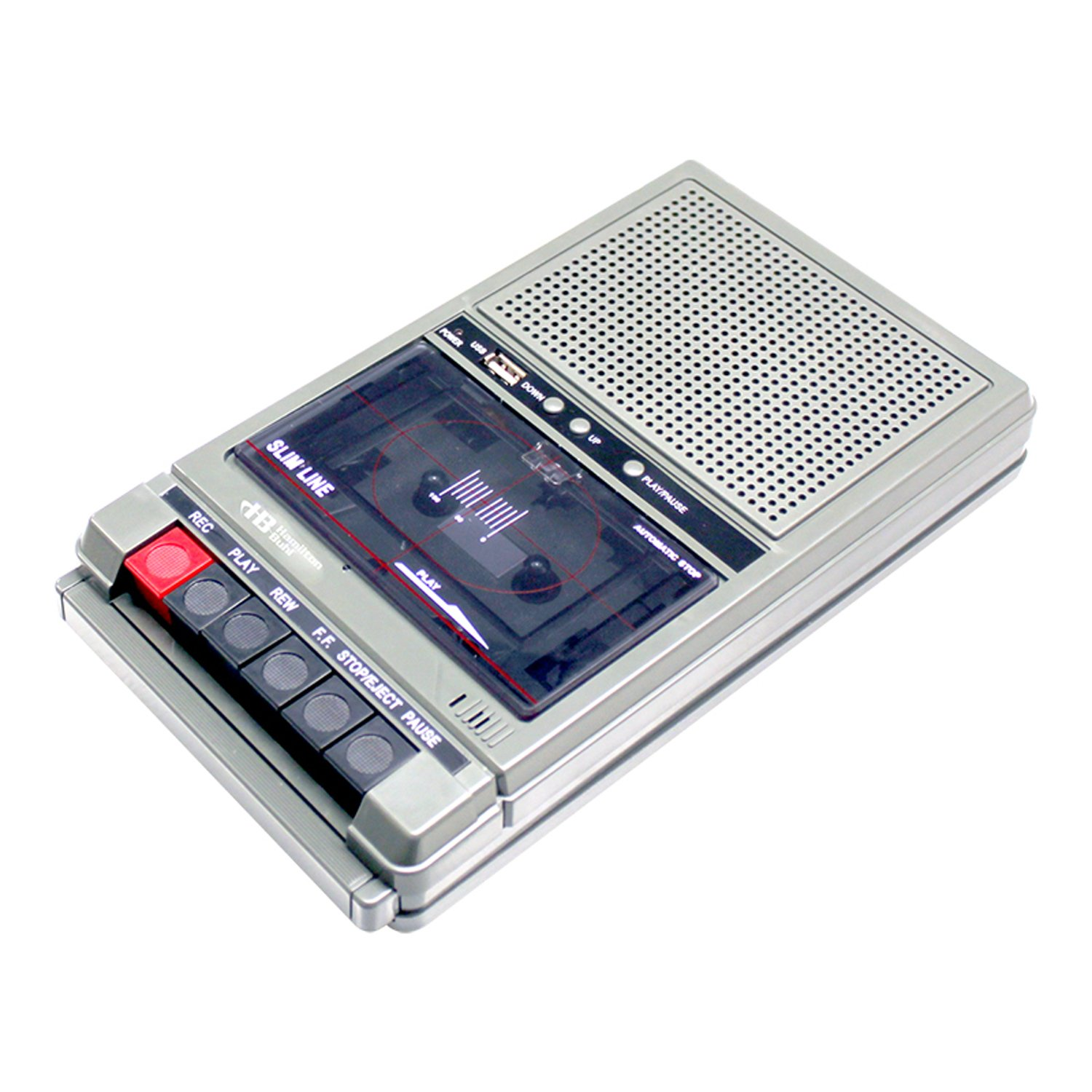 HamiltonBuhl Classroom Cassette Player, 2 Station, 1 Watt