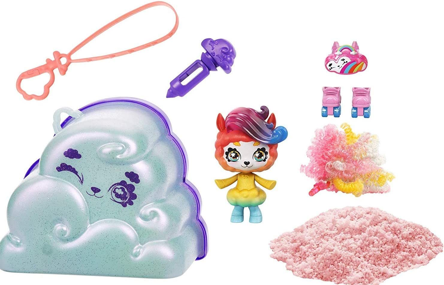 Mattel Cloudees Cloud Themed Toy with Hidden Surprise, Interactive Cloud Toy with Accessories, Toys for Kids 4 and Up