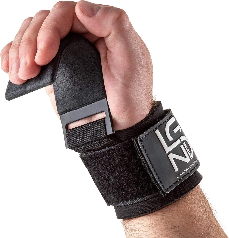 BLACKROX Zughaken Krafttraining Powerlifter V1 Vergleichssieger Zughilfen Fitness Bodybuilding 2 St/ück Gym Metallhaken Gewichtheben handgelenkbandage gepolstertem Kraftsport schwere Gewichte