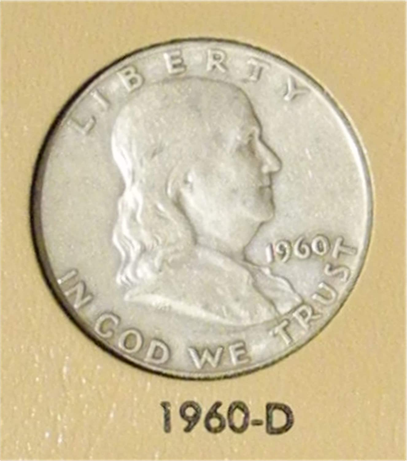 1960 D FRANKLIN HALF DOLLAR   *GOOD OR BETTER*  *90/% SILVER* **FREE SHIPPING**