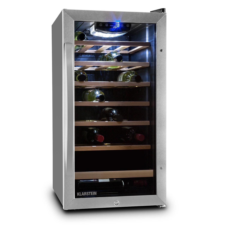 Klarstein Vivo Vino 26 • Weinkühlschrank • Getränkekühlschrank ...