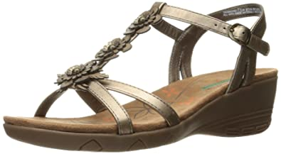 2665e823c BareTraps Women s Hammond Wedge Sandal Bronze 6 ...