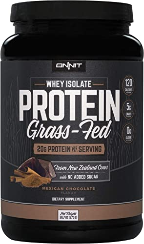 Onnit Grass Fed Whey Isolate Protein – Mexican Chocolate 30 Servings