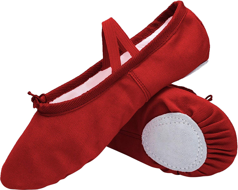 L-RUN Girls'/Women's Canvas Ballet Dance Shoes/Ballet Shipper/Yoga Shoe L-RUN-650