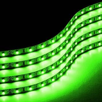 Green Led Light Strip Amazon zone tech 30cm led car flexible waterproof light strip amazon zone tech 30cm led car flexible waterproof light strip green pack of 4 automotive audiocablefo