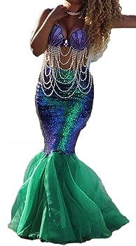 Rachel Charm Women's Mermaid Costume Lingerie Halloween Cosplay Fancy