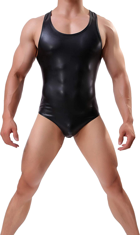 WOWHOMME Shapewear Tops Tank Bodysuit Leotard Swimwear Mens Underwear Wh40