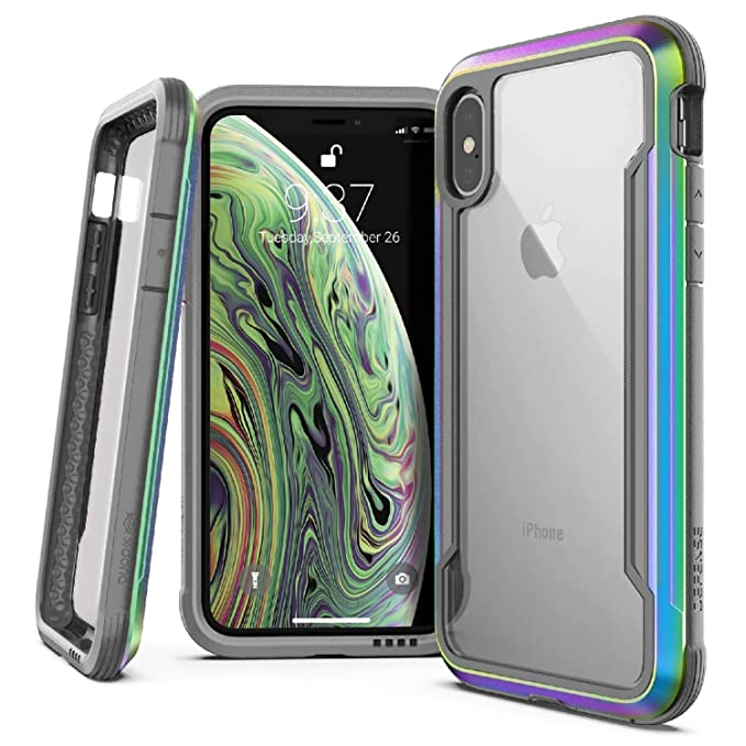 low priced 174a2 9f087 X-Doria Defense Shield Series Case Designed for iPhone X, iPhone Xs,  Military Grade Drop Tested, Anodized Aluminum, TPU, and Polycarbonate  Protective ...