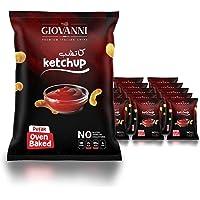 Giovanni Ketchup Flavor Potato Pufak Chips 35GM (Pack of 20) | No Artificial Color | Gluten-Free Chips | NON-GMO Pofak…