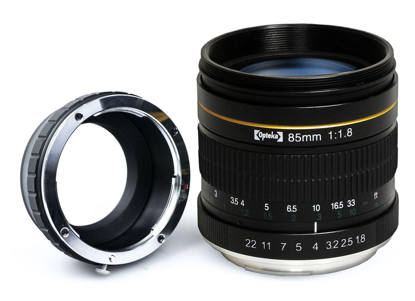 Opteka 85mm f/1.8 Manual Focus Aspherical Medium Telephoto Lens for Canon EOS 80D, 70D, 60D, 60Da, 50D, 7D, 6D, 5D, 5DS, 1Ds, Rebel T6s, T6i, T6, T5i, T5, T4i, T3i, T3, T2i and SL1 Digital SLR Cameras OPT8518C