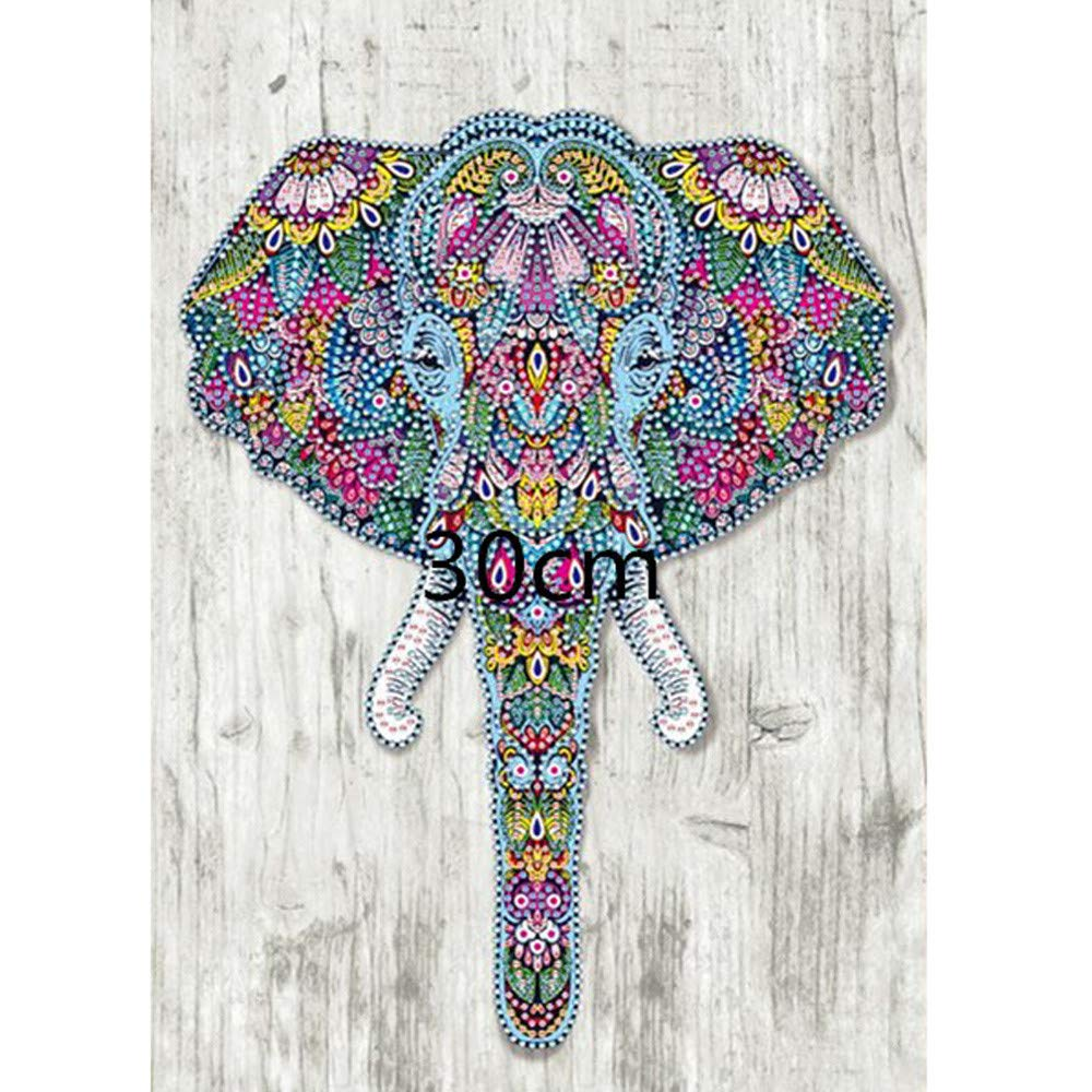 lotus.flower 5D DIY Diamond Painting, Special Shaped Diamond Painting Mosaic Diamond Cross Stitch Rhinestone Diamond Kit-Home Decor Craft Art(Elephant❤️) (30x40cm)