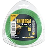 Universal NLO013 Low Noise Trimmer Line for All Grass Trimmers, 2.0 mm x 15 m