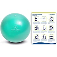 ProBody Pilates Mini Exercise Ball - 9 Inch Small Bender Ball for Stability, Barre, Pilates, Yoga, Core Training and…