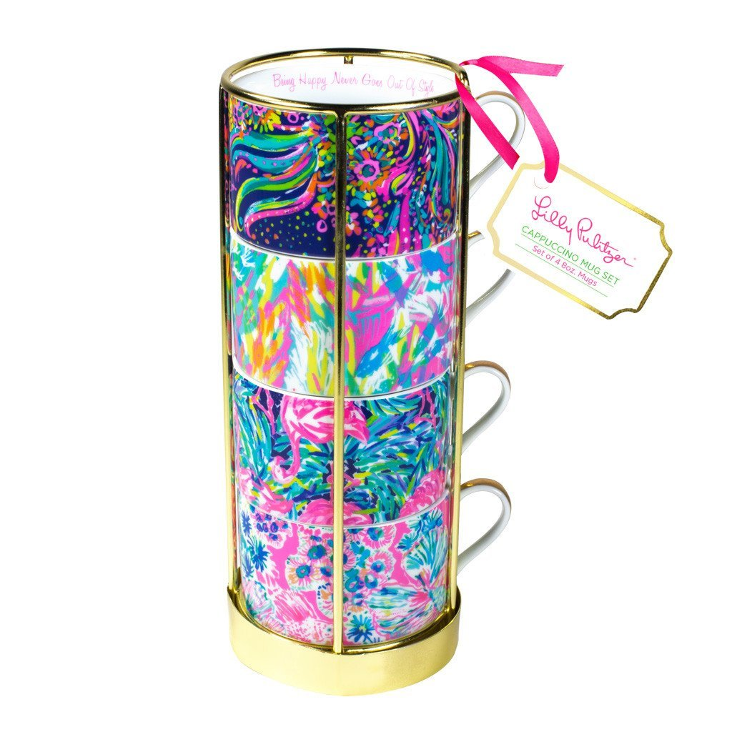 Lilly Pulitzer Cappuccino Mugs Set of 4