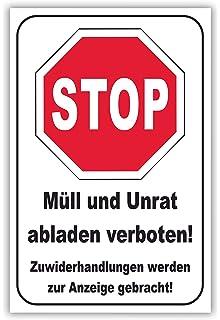 SCHILDER HIMMEL anpassbares M/üll abladen verboten Schild A1 Alu-Verbund mit Schrauben Nr 189 eigener Text//Bild verschiedene Gr/ö/ßen//Materialien