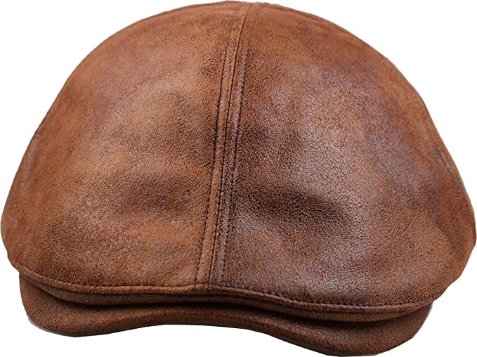 88f9e0cff2a ... Gatsby Flat Golf Hat timeless  sujii iCAB Flat Cap Newsboy Beret Ivy Cap  Irish Cabbie Driver Hat at Amazon Men s  Men s Winter Fall Faux Leather ...