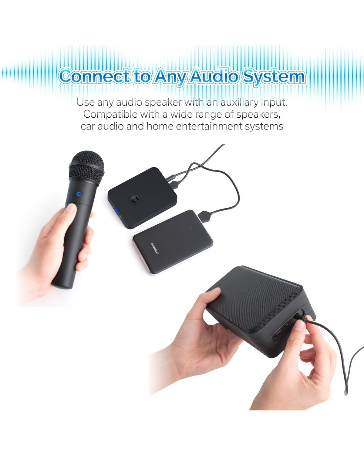 Cobble Pro Wireless Karaoke Microphone 2-pack Mic [Source Vocal Removal Technology][Choose Unlimited Music Source from YouTube, Compatible with iPhone iPad Phone Tablet] New Model BT Speaker Machine by Cobble (Image #6)