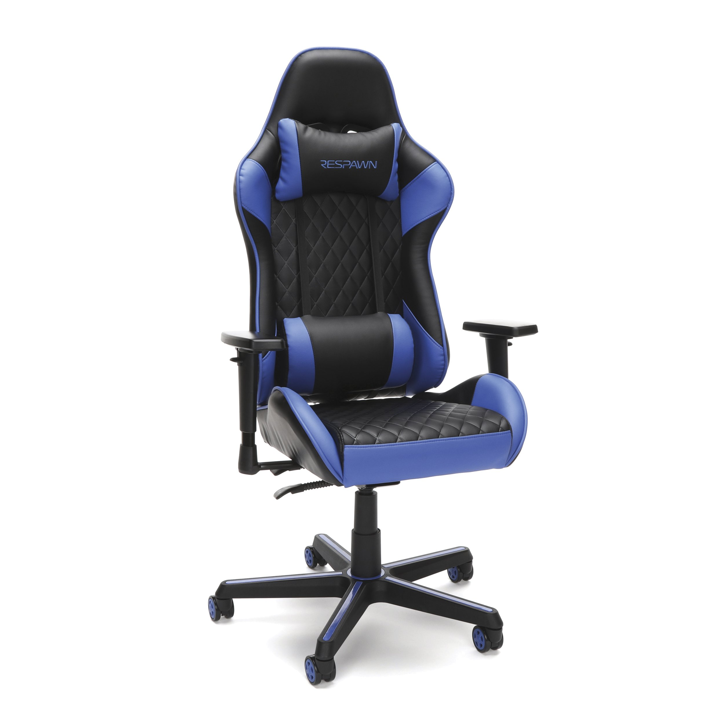 RESPAWN-100 Racing Style Gaming Chair - Reclining Ergonomic Leather Chair, Office or Gaming Chair (RSP-100-BLU)