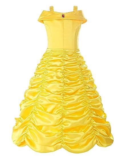 24cffd14d86 Amazon.com  ReliBeauty Little Girls Layered Princess Belle Costume Dress  up