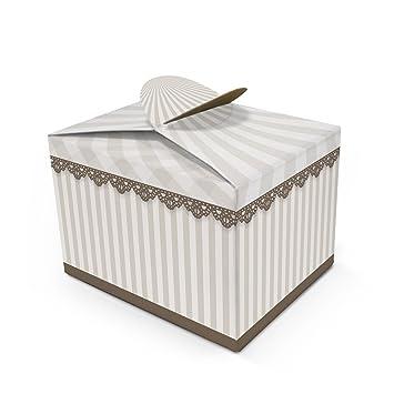 Geschenkbox Geschenkverpackung Engel Herz Weihnachten Box Karton 6 Stück Karton