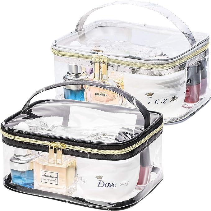 2 Piezas de Bolsa de Maquillaje Transparente de Patrón de ...
