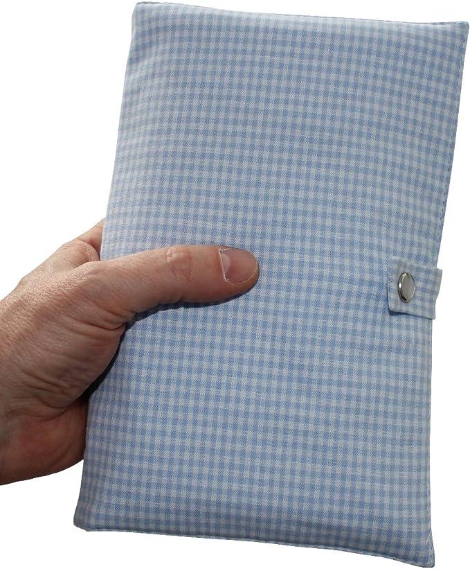 Baby Charms Checkup libro copertura in tessuto modello # 93181 azzurro 15/x 23/cm