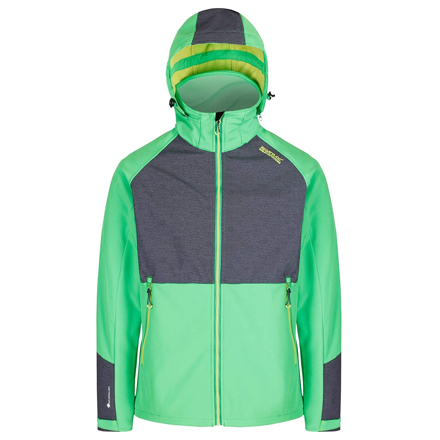 Vert   gris 3XL Regatta Pour des hommes Hewitts IV Technical Water Repellent Softshell veste