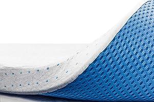 ViscoSoft 3 Inch Memory Foam Mattress Topper Cal King   Select High Density Ventilated Mattress Pad