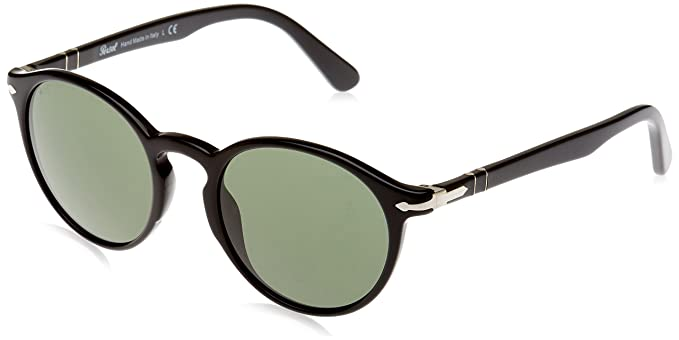 24c1f5e256 Image Unavailable. Image not available for. Color  Persol PO3171S 95 31  Black PO3171S Round Sunglasses ...