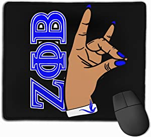 Zeta Phi Beta Mouse Pad Customized Mousepad Non-Slip Mouse Pads for Computers Laptop Office Hemmed Mouse Pad