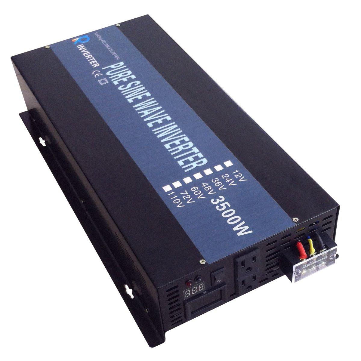 Black 3500W12V WZRELB RBP350012 Power Inverter