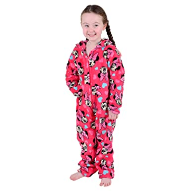 6553022859d Disney Minnie Mouse Girls Onesie Pyjamas Soft All in One Jump Play Suit  Ages 2-