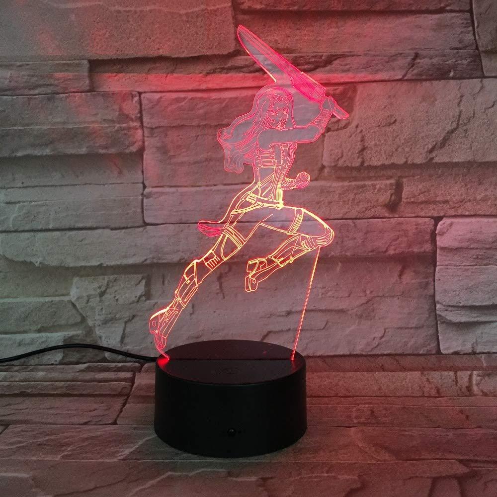 wangZJ Lámpara de ilusión visual 3d / al lado de Lámpara de ...