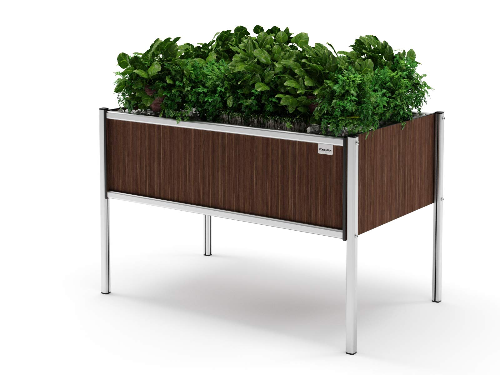 Foreman Garden Bed Planter Box Kit Made in The USA with a 20-Year Warranty HPL Plastic Wood Color Outdoor Indoor Planter Box (36''Lx24''Wx25''H, Tosca)