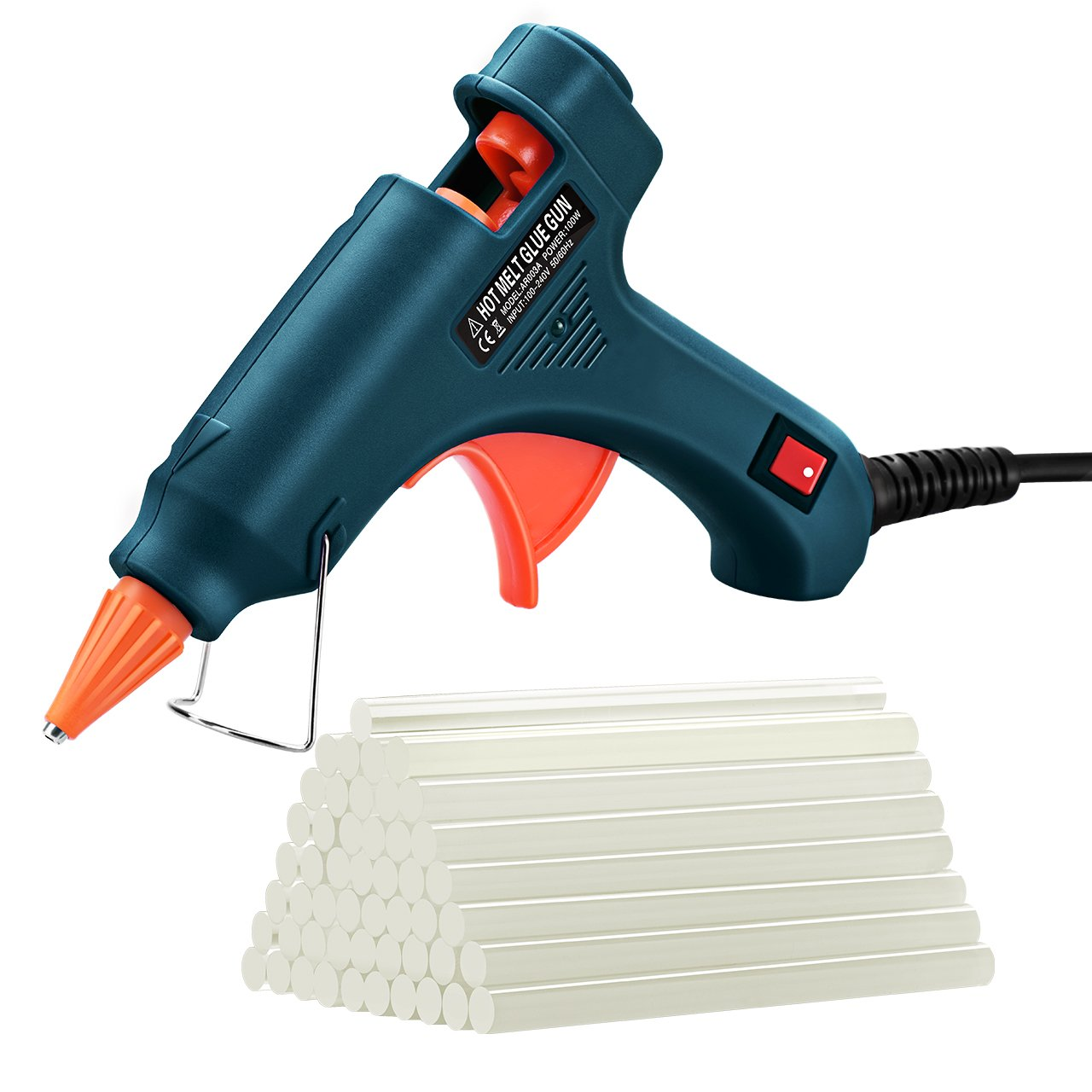 Hot Glue Gun, TOPELEK Mini Heating Hot Melt Glue Gun with 50pcs Melt Glue Sticks, Melting Glue Gun Set for School DIY Arts and Crafts Projects, Home Quick Repairs(20 Watts, Dark Green) Patec