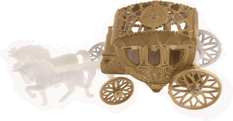 12 Cinderella Coach Wedding Carriage Favor Plastic - Gold