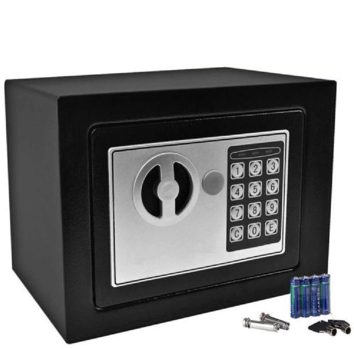 Durableキーパッドロックホームホテル:耐久性デジタル電子セーフボックスキーパッドロックセーフボックスホームオフィスホテルガンブラック: Office電子 B01FG7G7GW