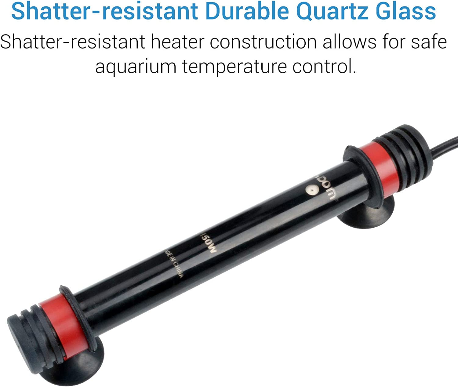 NICREW Preset Aqaurium Heater, Submersible Fish Tank Heater with Electronic Thermostat, UL Listed