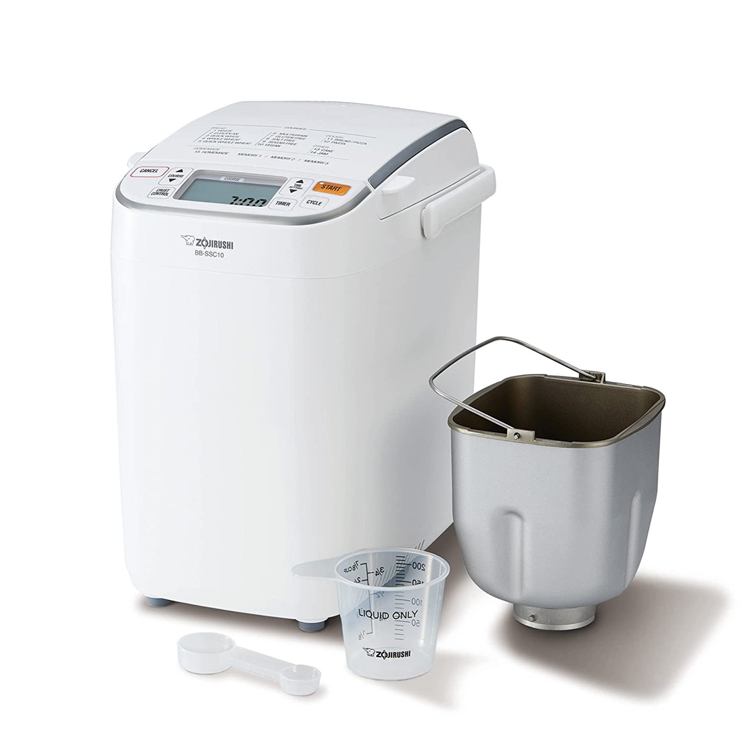 with Free Digital Scale Zojirushi BB-SSC10DS Home Bakery Maestro Breadmaker 1-pound loaf Premium White