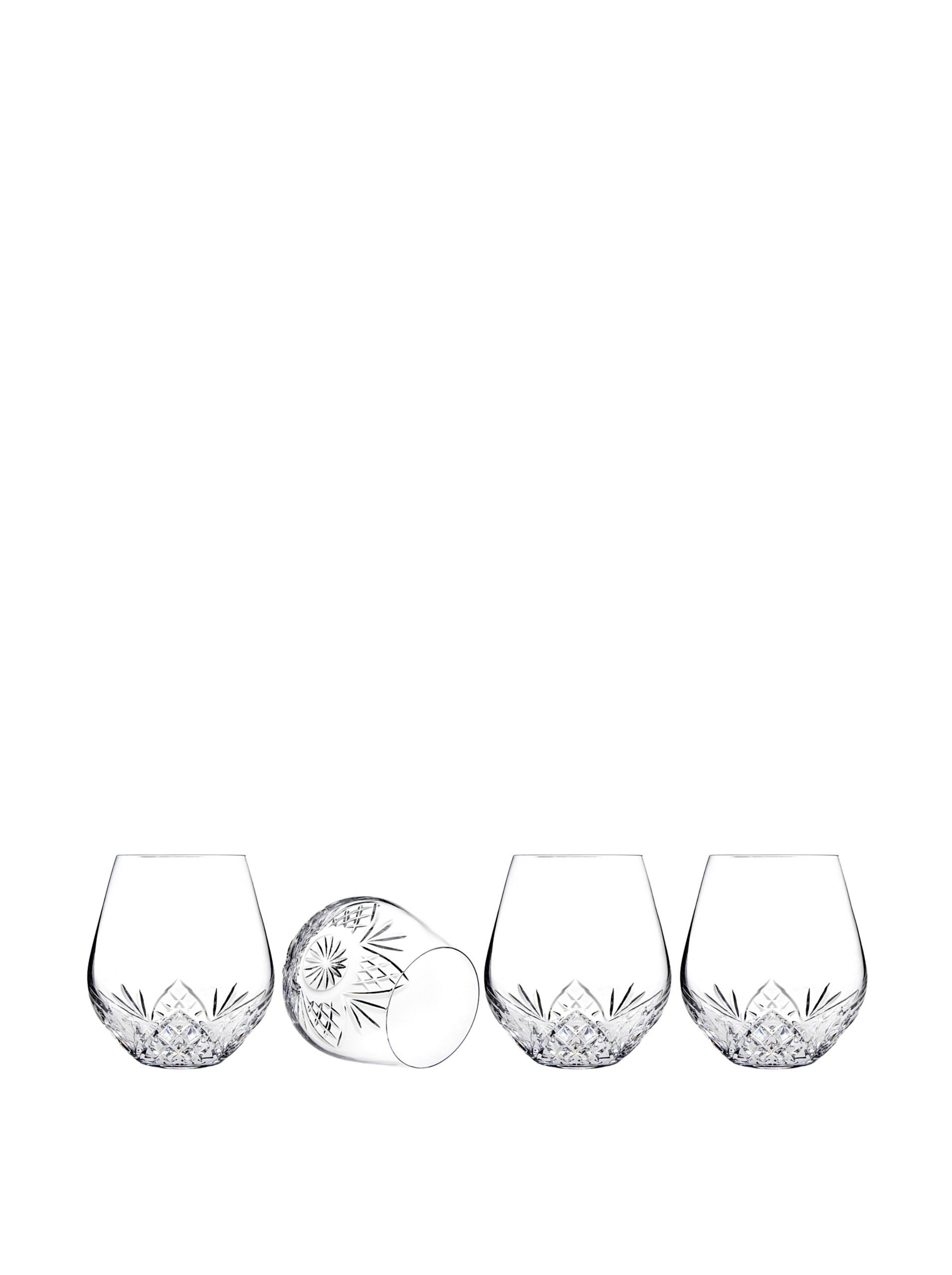 Godinger Dublin Stemless Goblets, Set of 4