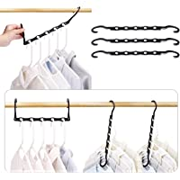 HOUSE DAY Black Magic Hangers Space Saving Clothes Hangers Organizer Smart Closet Space Saver Pack of 10 with Sturdy…
