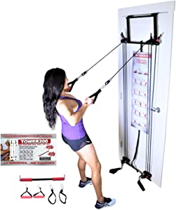 Tower 200 Complete Door Gym Full Body Workout Fitness Exercise Home Gym System Strength Training