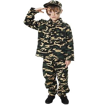 Amazon.com: Childrens Militar del ejército Commando disfraz ...