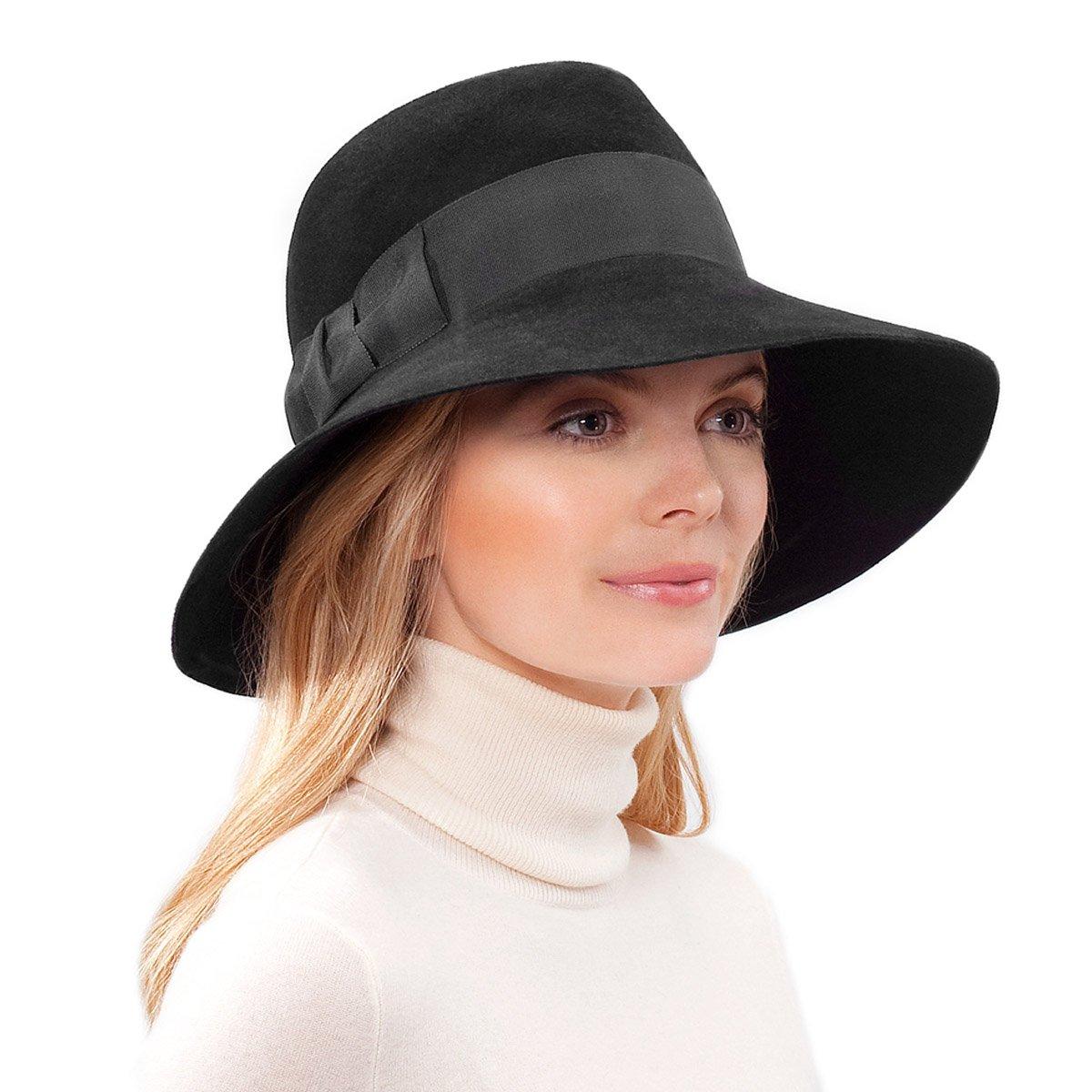 Eric Javits Luxury Fashion Designer Women's Headwear Hat - Tiffany - Black
