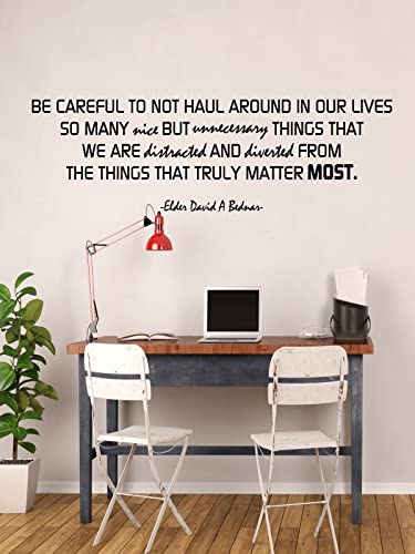Inspirational Quote Home Decor Focus On What Really Matters David A Bednar Saying Vinyl Wall Art Decor For Living Or Family Room Bedroom Office