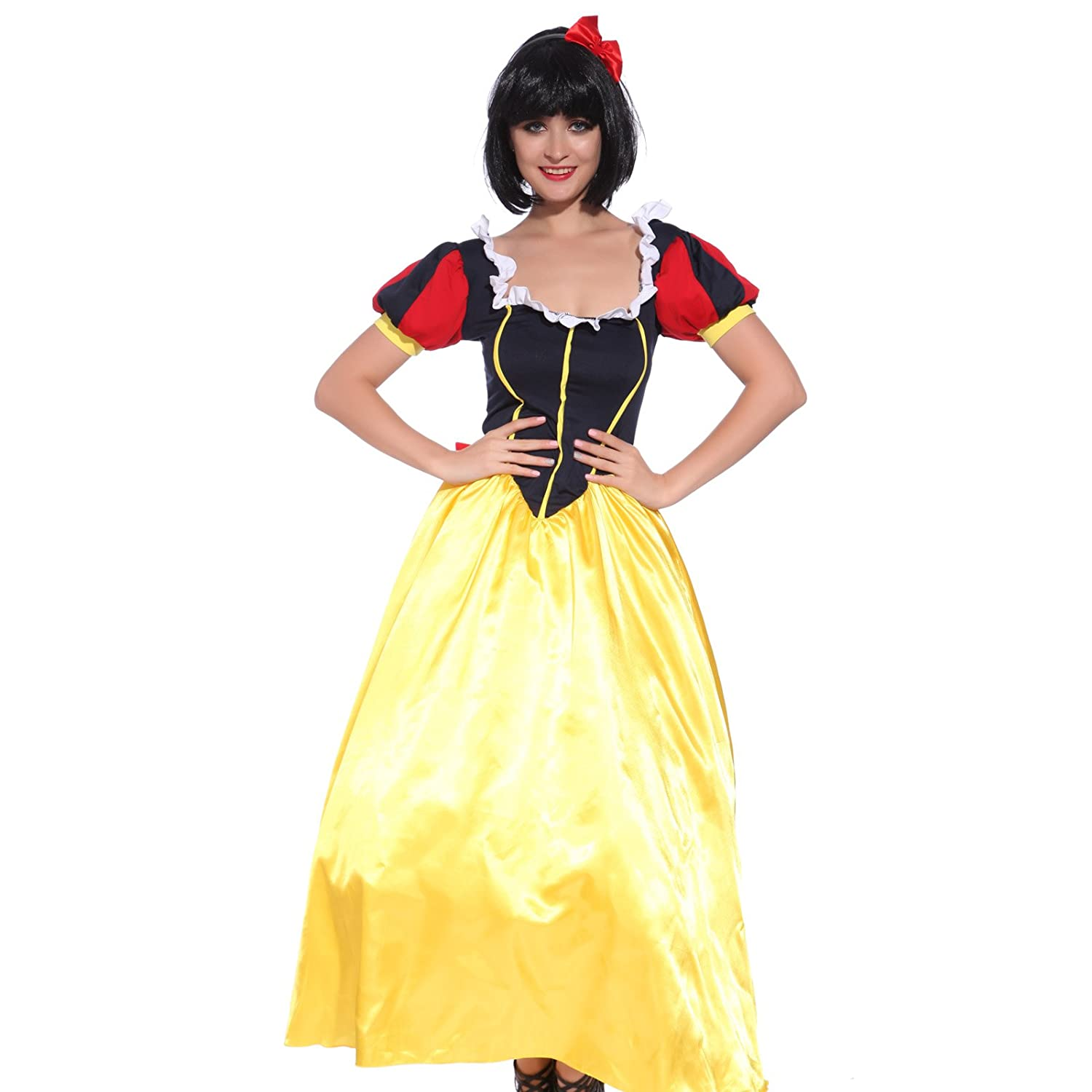 Anladia - Disfraz de blancanieves Vestido largo Cosplay Dress ...