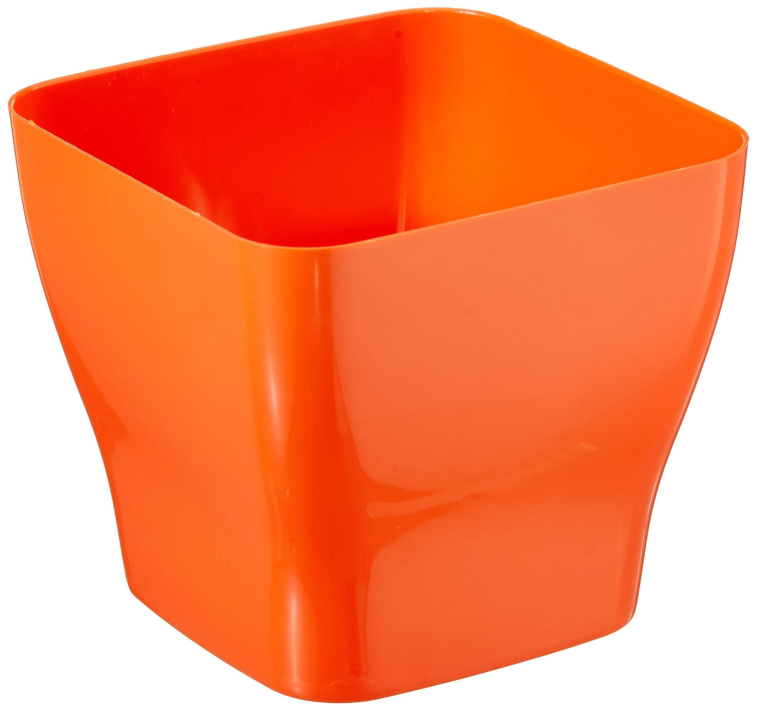 Klassic Plastic Table Top Square Pot Set (Orange, Pack of 4) (B07MSB4Y2M) Amazon Price History, Amazon Price Tracker